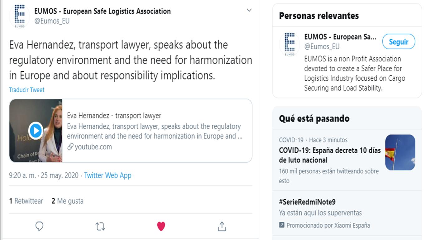 Publicaciones EUMOS 6th Conference en Twitter