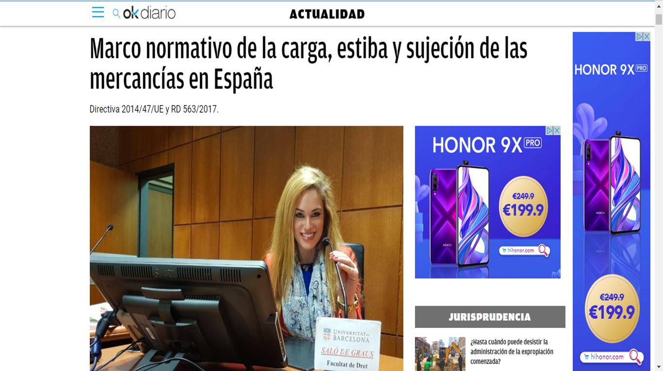 Marco normativo de la carga y estiba en España
