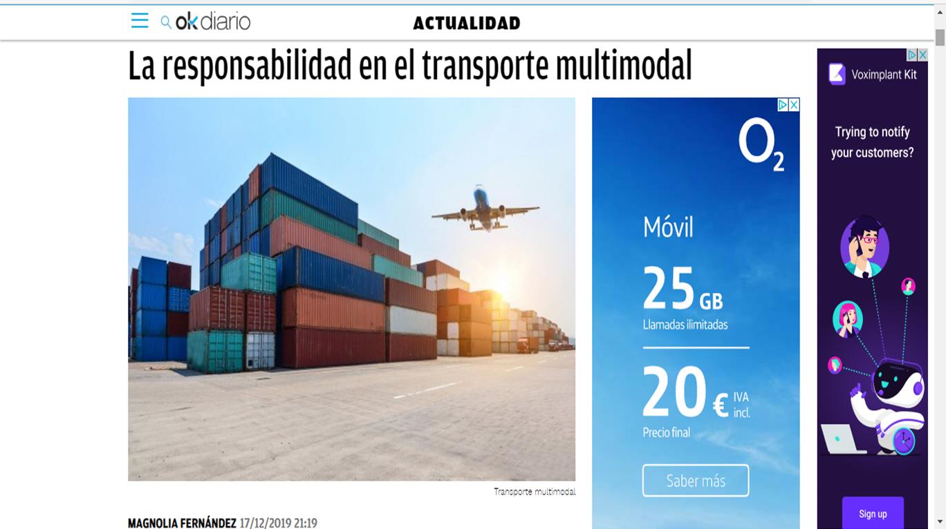 La responsabilidad en transporte multimodal